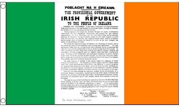 Easter Rising Proclamation 5ft x 3ft Flag