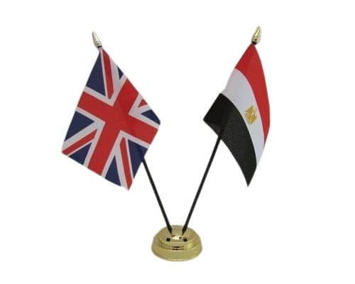 Egypt with UK Friendship Table Flag