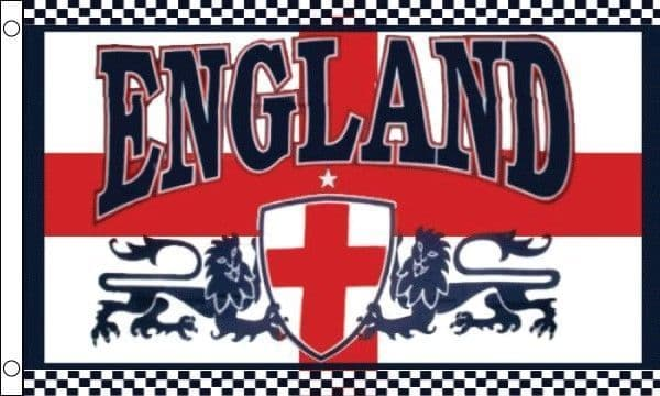 England 2 Lions 5ft x 3ft Flag