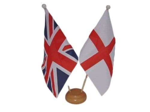 England Friendship Wooden Table Flag