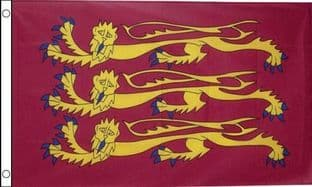 England Historic Flag (Richard The Lion Heart) Flag - (5ft x 3ft