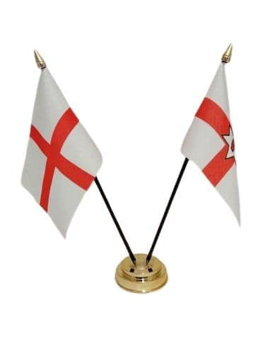 England with Northern Ireland Friendship Table Flag