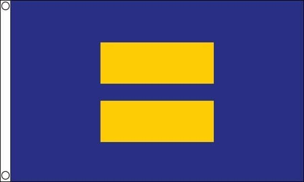 Equality Blue/Yellow 5ft x 3ft Flag