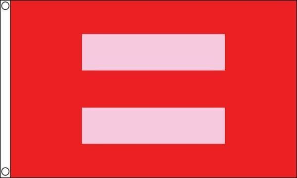 Equality Red/Pink 5ft x 3ft Flag