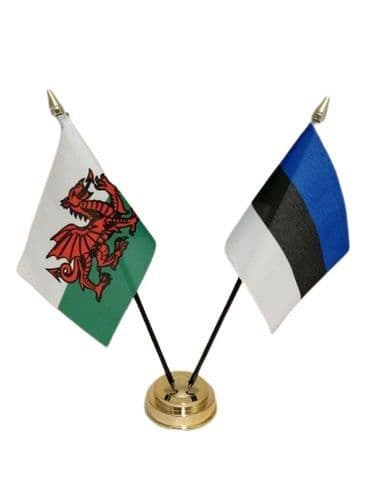 Estonia with Wales Friendship Table Flag