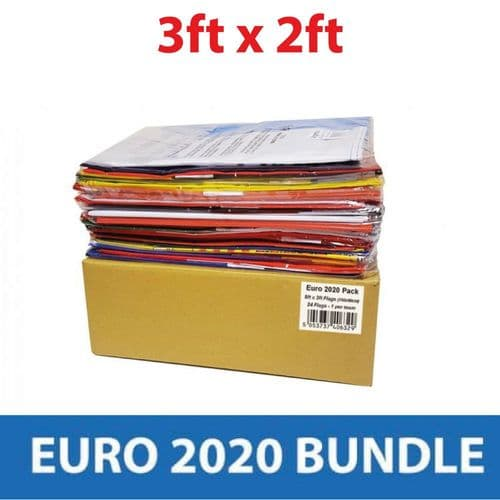 Euro 2020 - All 24 Competing Nations - 3'x2' Flags