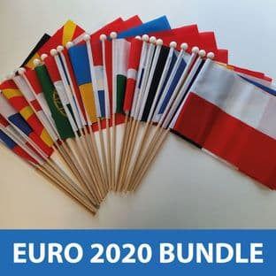 Euro 2020 - All 24 Competing Nations - Hand Flags