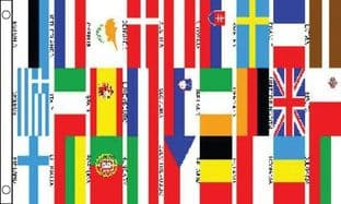 Euro 27 Countries Banner 5ft x 3ft Flag
