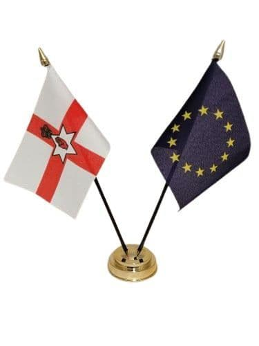 European Union with Northern Ireland Friendship Table Flag