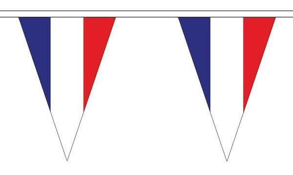 France Triangle Bunting (5m) - 12 Flags