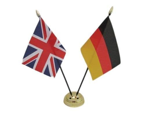 Germany with UK Friendship Table Flag