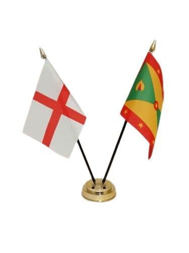 Grenada with England Friendship Table Flag