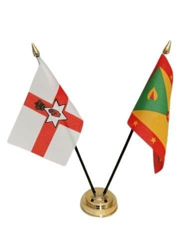 Grenada with Northern Ireland Friendship Table Flag