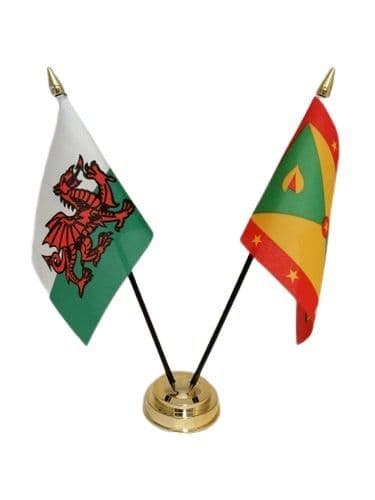 Grenada with Wales Friendship Table Flag