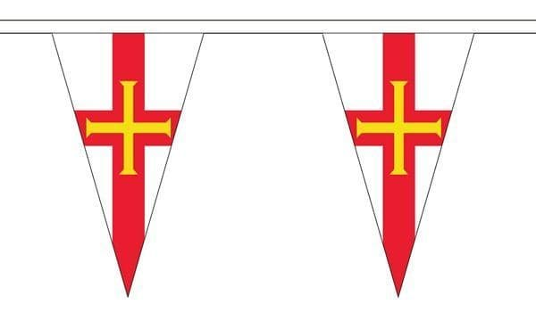 Guernsey Triangle Bunting (20m) - 54 Flags