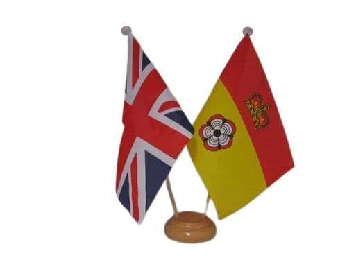 Hampshire Friendship Wooden Table Flag