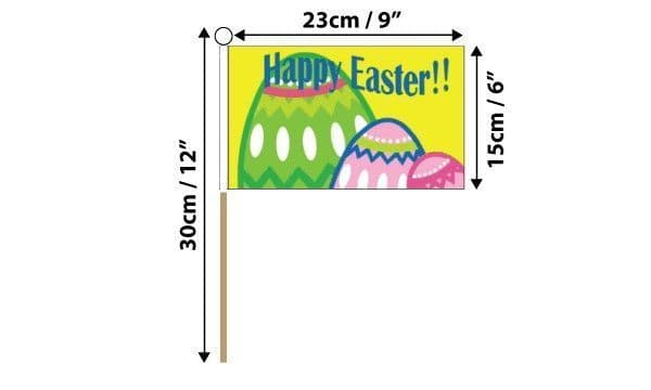 Happy Easter Hand Flag