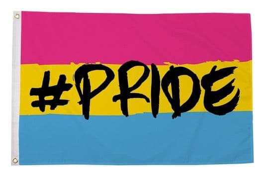 Hashtag Pride (Pansexual) 5ft x 3ft Flag