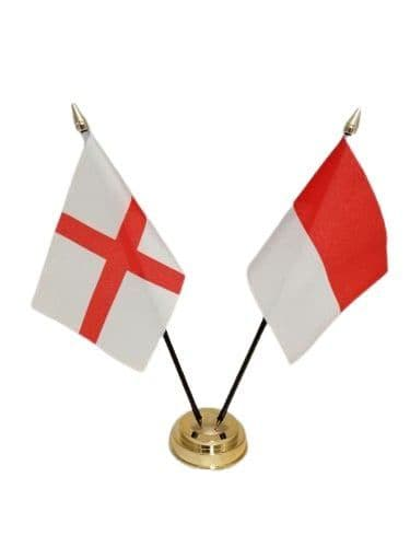 Indonesia with England Friendship Table Flag
