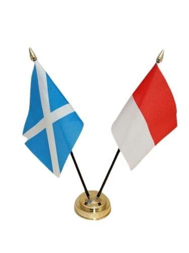 Indonesia with Scotland Friendship Table Flag