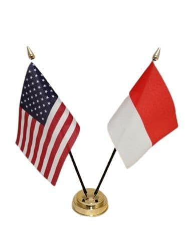 Indonesia with USA Friendship Table Flag