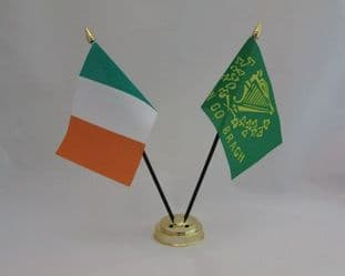 Ireland & Erin Go Bragh Friendship Table Flag