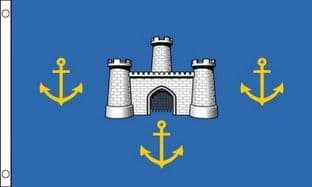 Isle of Wight - Castles (Old) 5ft x 3ft Flag