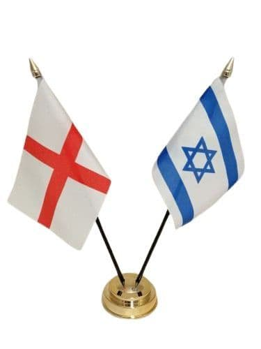 Israel with England Friendship Table Flag