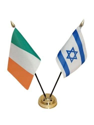 Israel with Ireland Friendship Table Flag