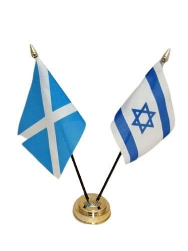 Israel with Scotland Friendship Table Flag