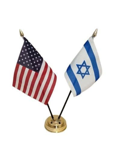 Israel with USA Friendship Table Flag