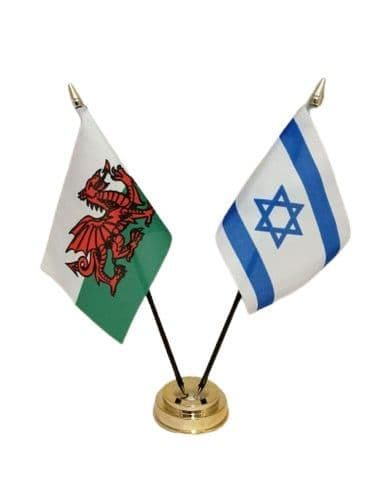 Israel with Wales Friendship Table Flag