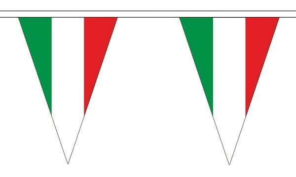Italy Triangle Bunting (5m) - 12 Flags