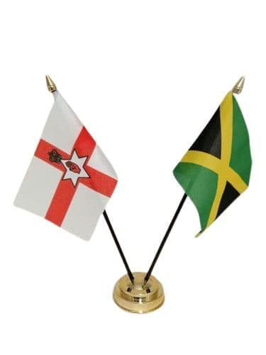 Jamaica with Northern Ireland Friendship Table Flag