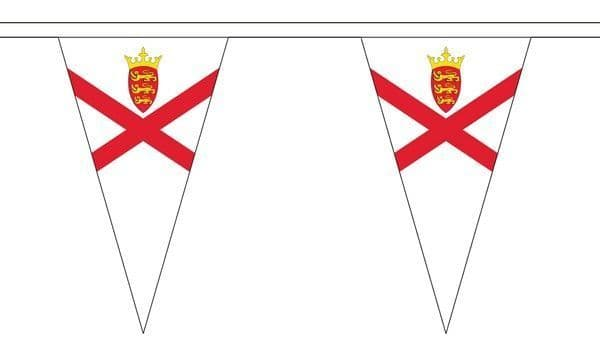 Jersey Triangle Bunting (5m) - 12 Flags