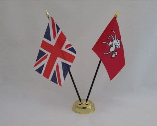 Kent with UK Friendship Table Flag