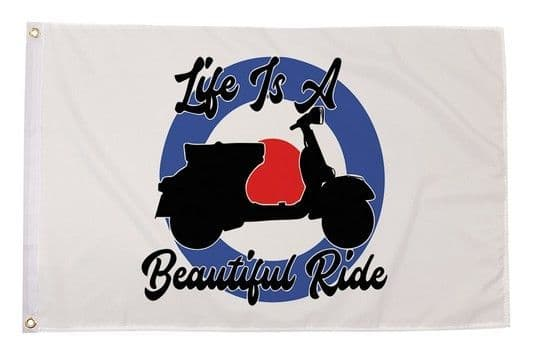 Life Is A Beautiful Ride 5ft x 3ft Flag