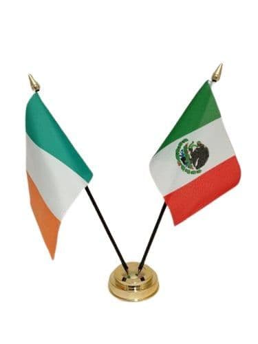 Mexico with Ireland Friendship Table Flag