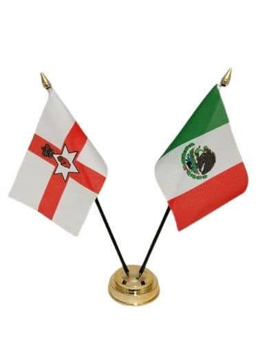 Mexico with Northern Ireland Friendship Table Flag