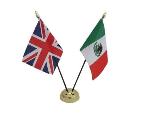 Mexico with UK Friendship Table Flag