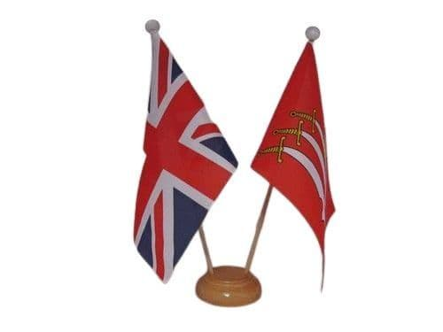 Middlesex Friendship Wooden Table Flag