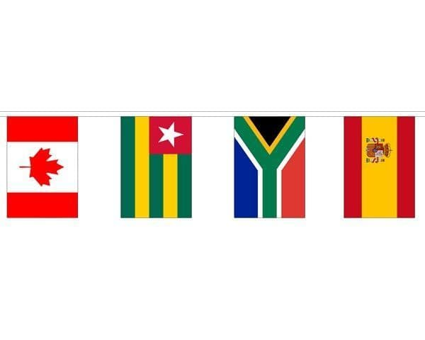 Multi Nation Mixed Bunting (15m) - 50 Flags