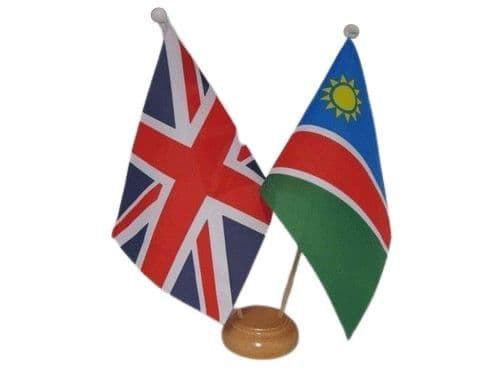 Namibia Friendship Wooden Table Flag