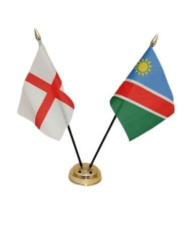 Namibia with England Friendship Table Flag