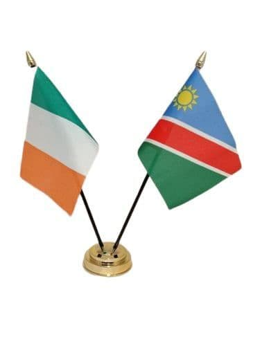 Namibia with Ireland Friendship Table Flag