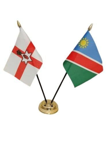 Namibia with Northern Ireland Friendship Table Flag