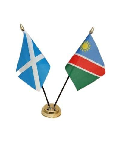 Namibia with Scotland Friendship Table Flag