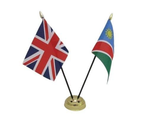 Namibia with UK Friendship Table Flag