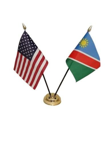 Namibia with USA Friendship Table Flag