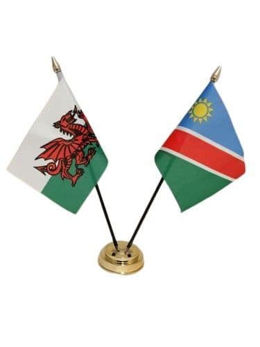 Namibia with Wales Friendship Table Flag